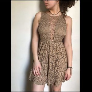 Tan Lace Dress from Finn and Clover
